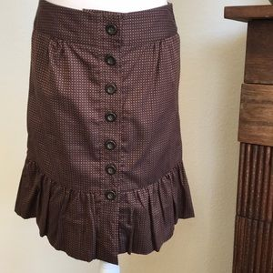 Anthropologie Brown Printed Skirt by Odille